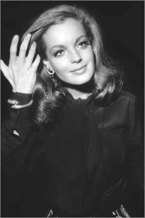 Stampa su legno  Romy Schneider, at Premiere of The Assassination of Trotsky, 1970