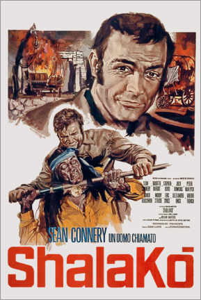 Poster Premium  Shalako movie poster by Edward Dmytryk with Sean Connery 1968