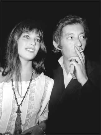 Poster Premium  Jane Birkin and Serge Gainsbourg, at the premiere of 'Cannabis', 1970