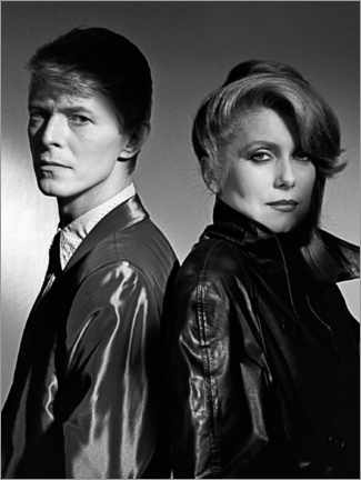 Poster Premium  David Bowie and Catherine Deneuve in 'The Hunger', 1983