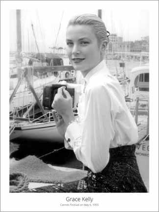 Poster Premium  Grace Kelly, Cannes Festival on May 6, 1955