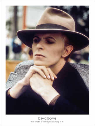 Poster Premium  David Bowie, Man who fell to earth by NicolasRoeg, 1976