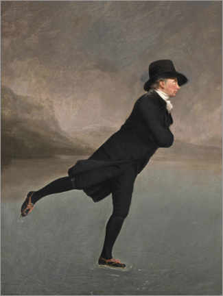 Stampa su tela  Il reverendo Robert Walker pattina sul Duddingston Loch - Henry Raeburn