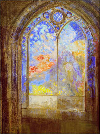 Stampa su tela  Church window - Odilon Redon