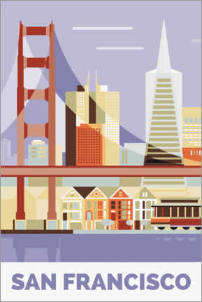 Poster Premium  golden gate bridge - Nigel Sandor