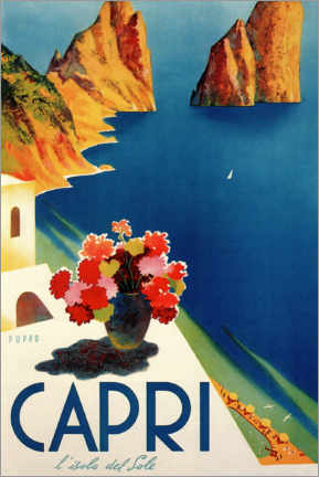 Stampa su schiuma dura  Capri, l'isola del sole - Travel Collection