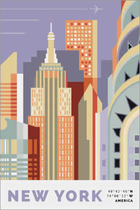 Stampa su legno  new york skyline - Nigel Sandor
