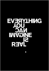 Stampa su plexi-alluminio  Everything you can imagine is real (Pablo Picasso) - THE USUAL DESIGNERS