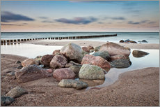 Adesivo murale  Stones and groynes on shore of the Baltic Sea. - Rico Ködder