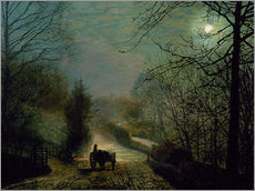 Adesivo murale  Forge Valley - John Atkinson Grimshaw