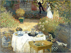 Claude Monet - The Luncheon: Monet's garden at Argenteuil