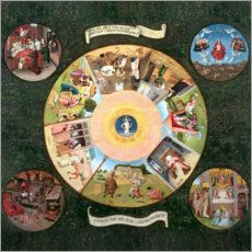Adesivo murale  The Seven Deadly Sins and the Four Last Things - Hieronymus Bosch