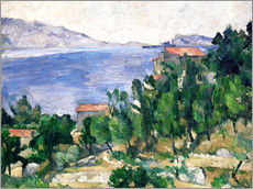 Stampa su plexi-alluminio  View of Mount Marseilleveyre and the Isle of Maire - Paul Cézanne