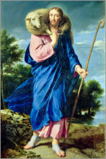 Stampa su plexi-alluminio  The Good Shepherd - Philippe de Champaigne