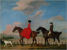 Adesivo murale  John and Sophia Musters riding at Colwick Hall - George Stubbs