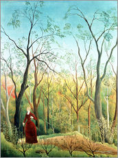 Stampa su plexi-alluminio  The Walk in the Forest - Henri Rousseau