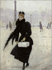 Adesivo murale  Parisian woman in the Place de la Concorde - Jean Beraud