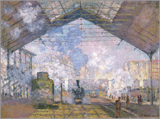 Adesivi murali  The Gare St. Lazare - Claude Monet