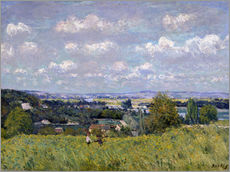 Adesivo murale  The Valley of the Seine at Saint-Cloud - Alfred Sisley