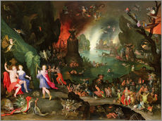 Adesivi murali  Orpheus with a Harp Playing to Pluto and Persephone in the Underworld - Jan Brueghel d.Ä.