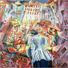 Stampa su plexi-alluminio  The Street Enters the House - Umberto Boccioni