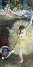 Stampa su plexi-alluminio  End of an Arabesque - Edgar Degas