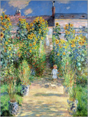 Poster  Monet's Garden at Vetheuil - Claude Monet