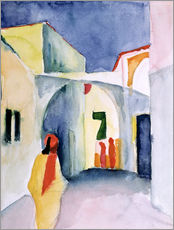 Stampa su plexi-alluminio  Alley in Tunis - August Macke