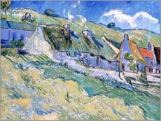 Stampa su plexi-alluminio  Thatched cottages at Auvers-sur-Oise - Vincent van Gogh