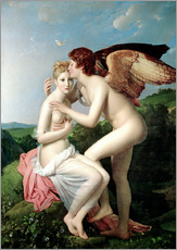 Stampa su plexi-alluminio  Psyche Receiving the First Kiss of Cupid - François Pascal Simon Gerard