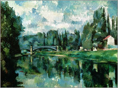 Adesivo murale  The Banks of the Marne at Creteil - Paul Cézanne