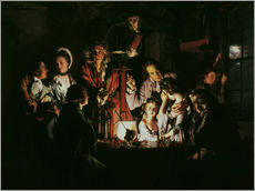 Adesivo murale  An Experiment on a Bird in the Air Pump - Joseph Wright of Derby