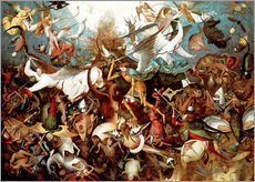 Adesivi murali  The Fall of the Rebel Angels - Pieter Brueghel d.Ä.