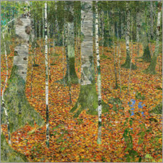 Adesivi murali  The Birch Wood - Gustav Klimt