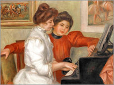 Stampa su plexi-alluminio  Yvonne and Christine Lerolle at the piano - Pierre-Auguste Renoir