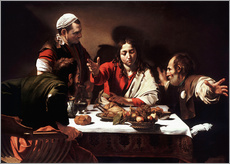 Stampa su plexi-alluminio  The Supper at Emmaus - Michelangelo Merisi (Caravaggio)