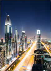 Adesivo murale  Dubai city skyline at night, United Arab Emirates - Matteo Colombo