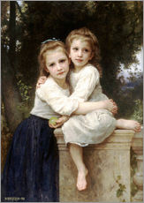 Adesivo murale  Two sisters - William Adolphe Bouguereau