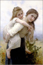 Adesivi murali  Not hard to bear - William Adolphe Bouguereau