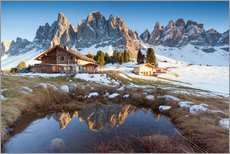 Adesivo murale  Hut and Odle mountains, Dolomites - Matteo Colombo