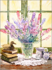 Adesivo murale  Lupins on Windowsill - Julia Rowntree