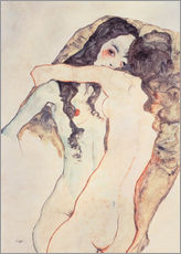 Adesivo murale  Two women in embrace - Egon Schiele