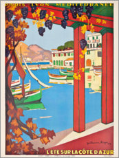 Poster Premium  Estate in Costa Azzurra (francese) - Guillaume G. Roger