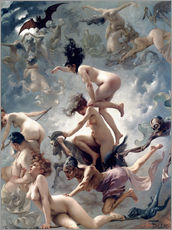 Adesivi murali  Witches going to their Sabbath - Luis Ricardo Falero