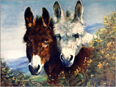 Adesivo murale  The Wise Ones (Donkeys) - Lilian Cheviot