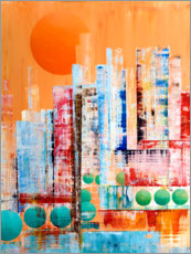 Poster Premium Skyline New York, abstract