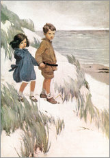 Stampa su plexi-alluminio  Baa Baa Black Sheep - Jessie Willcox Smith