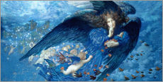 Stampa su plexi-alluminio  Night with her Train of Stars - Edward Robert Hughes
