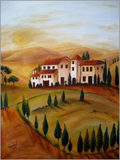 Adesivo murale  Sunrise in Tuscany - Christine Huwer