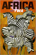 Adesivo murale  Africa Fly TWA - Travel Collection